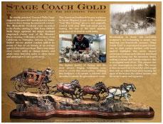 Laran R. Ghiglieri for Historic Stage Coach Bronze Sculpture