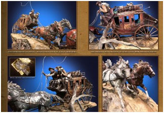 Laran R. Ghiglieri for Historic Stage Coach Bronze Sculpture