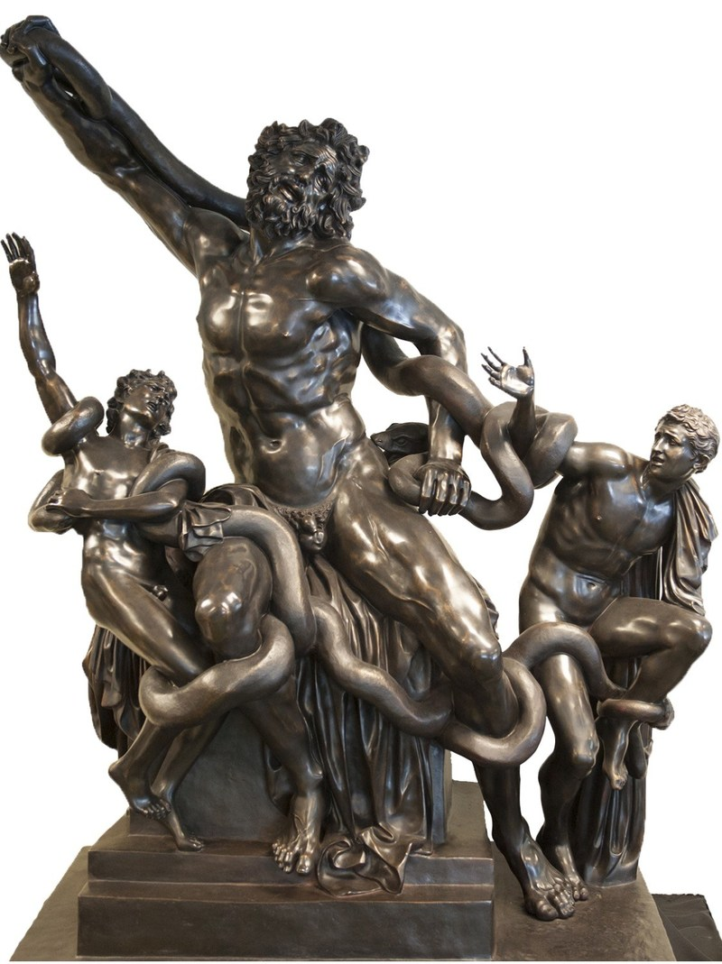 unveils the original life- size masterpiece sculpture of the Laocoon Group