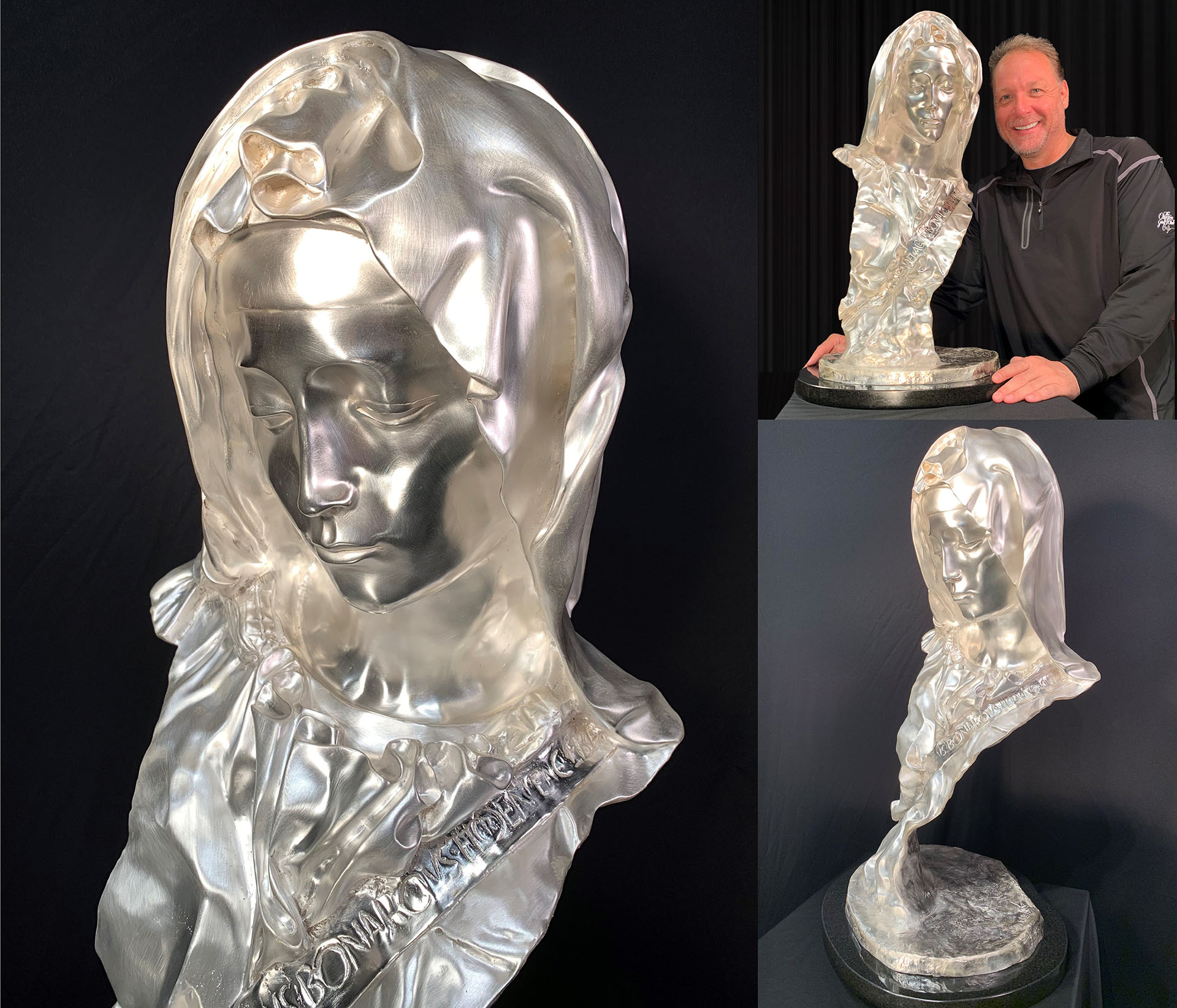 Madonna-Bust-Michelangelo-Silver-Edition-Collage-1980