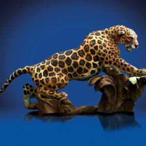 jaguar prowling over jungle habitat looking for its next good position