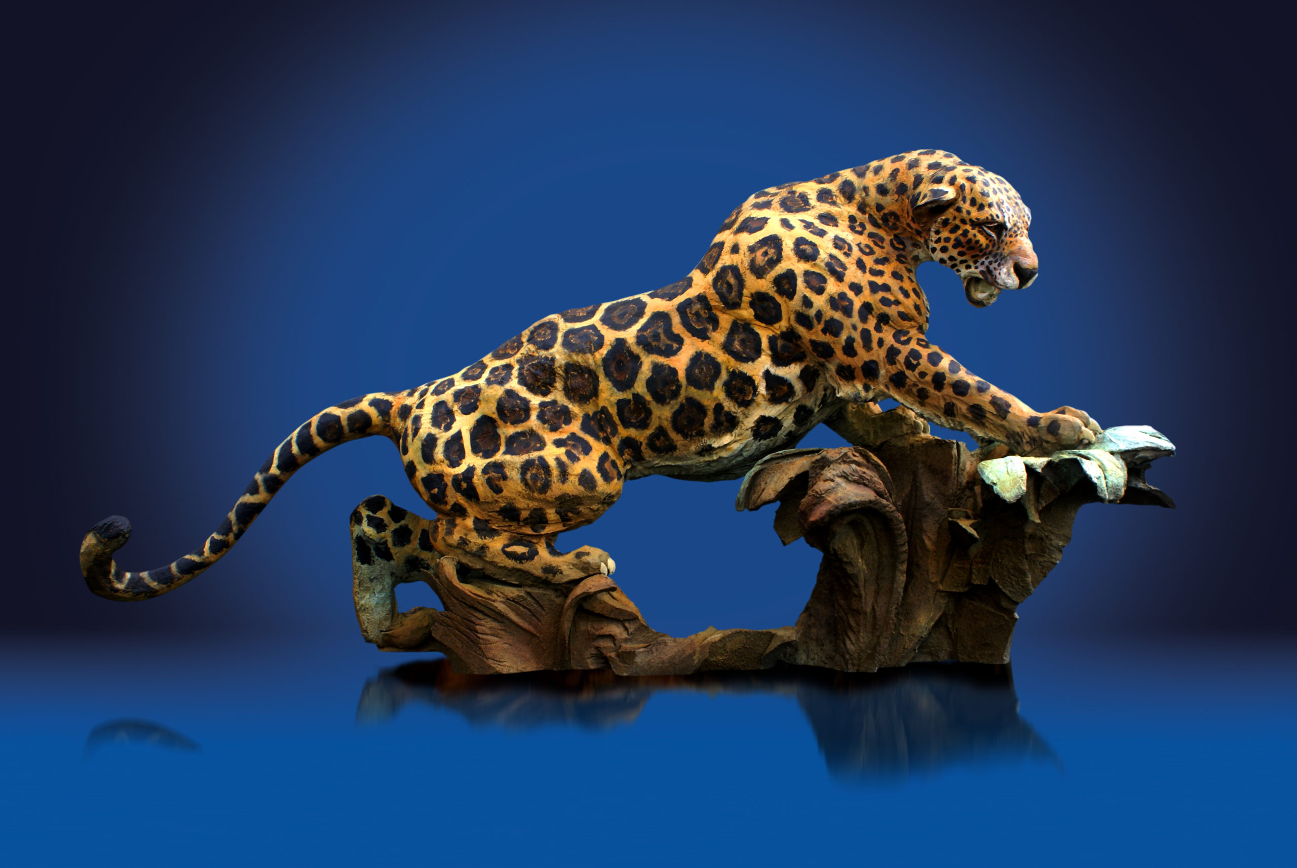 jaguar prowling over jungle habitat looking for its next good position